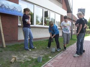 Arbeitsschritte-Jugendzentrumschild